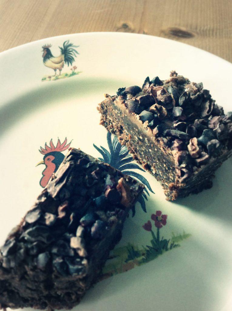 Triple chocolate brownies met havermout en walnoten!