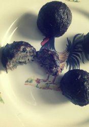 Bonbons met wortelpeterselie en hennepzaad